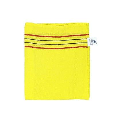 Exfoliantes toalla de baño masaje Italia 10pcs Amarillo Estilo coreano incluyen Exfoliante Exfoliante Jabón
