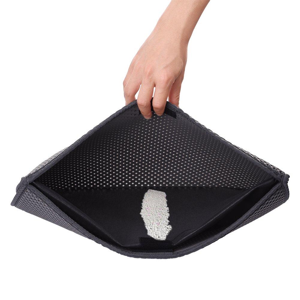 Tapis De Litière Portable et Pliable pour Chat Double Couche Imperméable en EVA Élastique (S:40*50cm) Sun