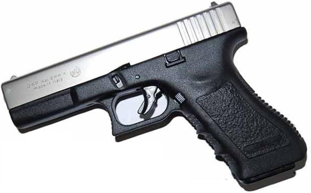 Bruni - Pistola de fogueo de metal Glock G17 8 mm, color negra/niquel