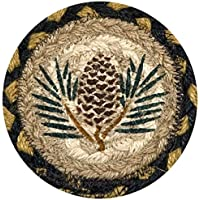 Earth Rugs 31-IC043P Pinecone Round Printed Coaster, 5