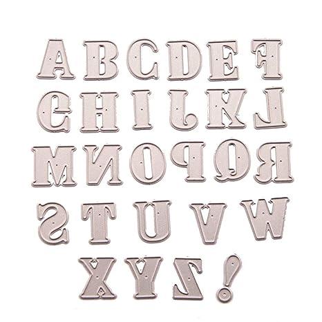 Cartas inglesas Troqueles de estampado en relieve Plantilla de plantilla de Punch para Scrapbooking Álbum de bricolaje Tarjetas de papel fotográficas ...