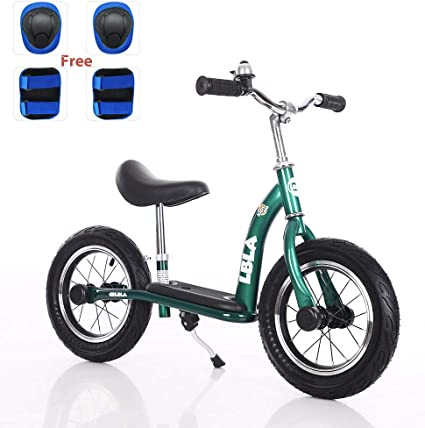 Uenjoy Kids Balance Bike No Pedal Bicycle for 2-6 Years Old Lightweight Frame Starter Toddler Training Bike with Air-Filled Rubber Tire Comfortable Seat