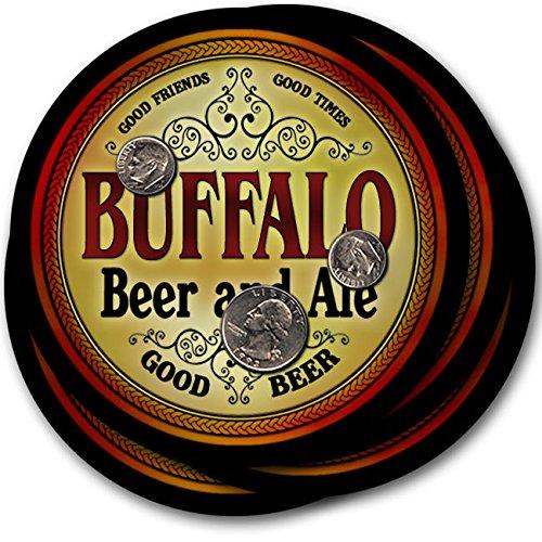 Buffaloビール& Ale – 4パックドリンクコースター   B003QXKOJA