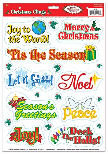 Beistle 22117 Christmas Clings 17 Inch