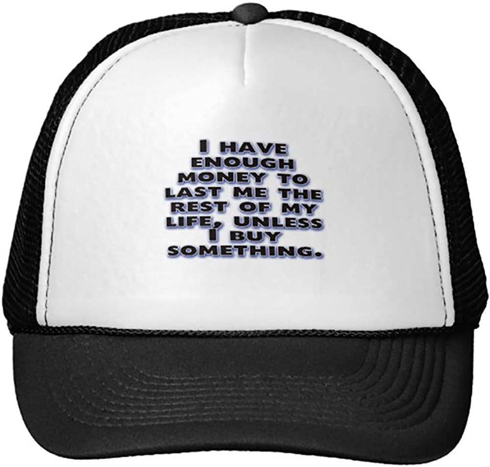 Goodaily Funny Humorous ?About Money Trucker Hat Baseball Mesh Caps Black