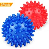 Spiky Massage Balls Foot Massager Roller Balls for Plantar Fasciitis, Deep Tissue, Foot, Back, Shoulder,Yoga, Legs, Muscle Therapy (Pack of 2)