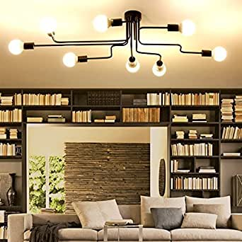 Chandelier Lighting, Golden Modern Pendant Lighting Gold Mid Century  Ceiling Light Fixture For Dining Room