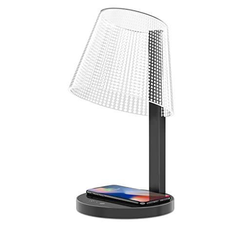 370ee433b243 LED Table Lamp, Above Lights 7W Office Dimmable Desk Light with 10W  Wireless Charger,