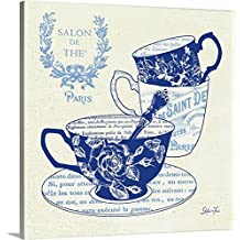 Stefania Ferri Premium Thick-Wrap Canvas Wall Art Print entitled Blue Cups IV