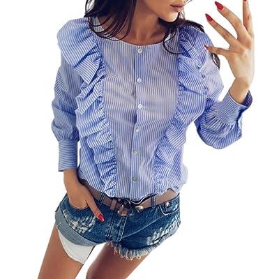 ????✿☀Lotus Chemise T-Shirt✿☀????Lolittas Rose Bleu Mode Femmes Casual Tops T-Shirt Lâche Haut à Manches Longues Blouse