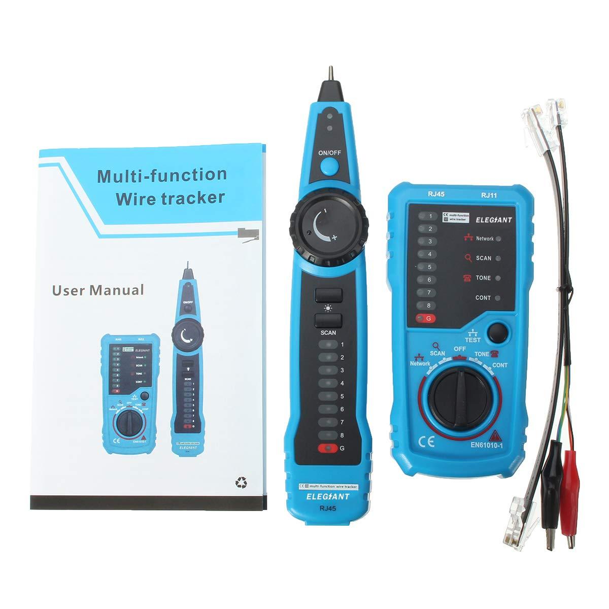 Wire Tracker, ELEGIANT RJ11 RJ45 Cable Tester Line Finder ...