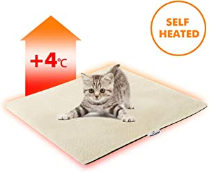 "FOCUSPET Cat Thermal Mat, Cat Bed Mat 19""x16"" 28""x20"" Pet Self Heating Pad Dog Cat Bed Pad for Dogs & Cats Waterproof Innovative & Eco Friendly"