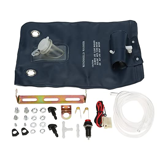 Amazon.com: 12V Universal Windshield Washer Pump Bag Kit With Jet Button Switch for Classic Cars: Automotive