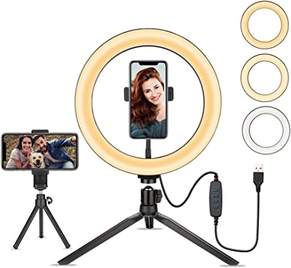 25 4 Cm Selfie Ringlicht Mit Stativ Led Ringlicht Mit Kamera