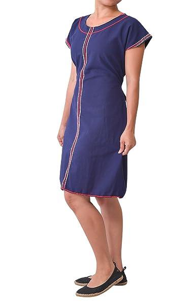 virblatt Vestido de Playa Verano Cortos como Vestidos Hippies Mujer - Aufregend Azul
