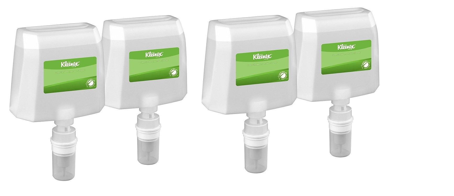Kleenex 91591 Skin Cleanser Refill, Fragrance & Dye Free, 1200mL (PACK OF 4)