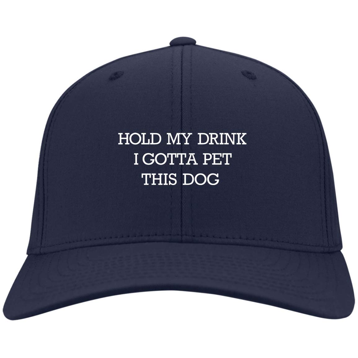 81d8f39a Amazon.com: Hold My Drink I Gotta Pet This Dog Funny Twill Cap - Trucker Hat  - Beanie - Knit Cap: Clothing