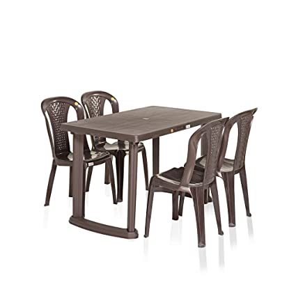 Vermora 1 + 4 Dinning Table Set Relish (Brown)