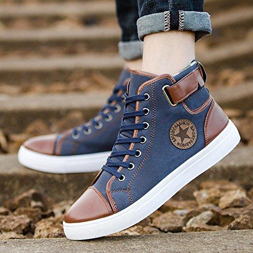 Zapatillas para Hombre Aire Libre y Deporte Running Botines con Cordones de Lona Casual Zapatos Gimnasio Correr Sneakers: Amazon.es: Zapatos y complementos