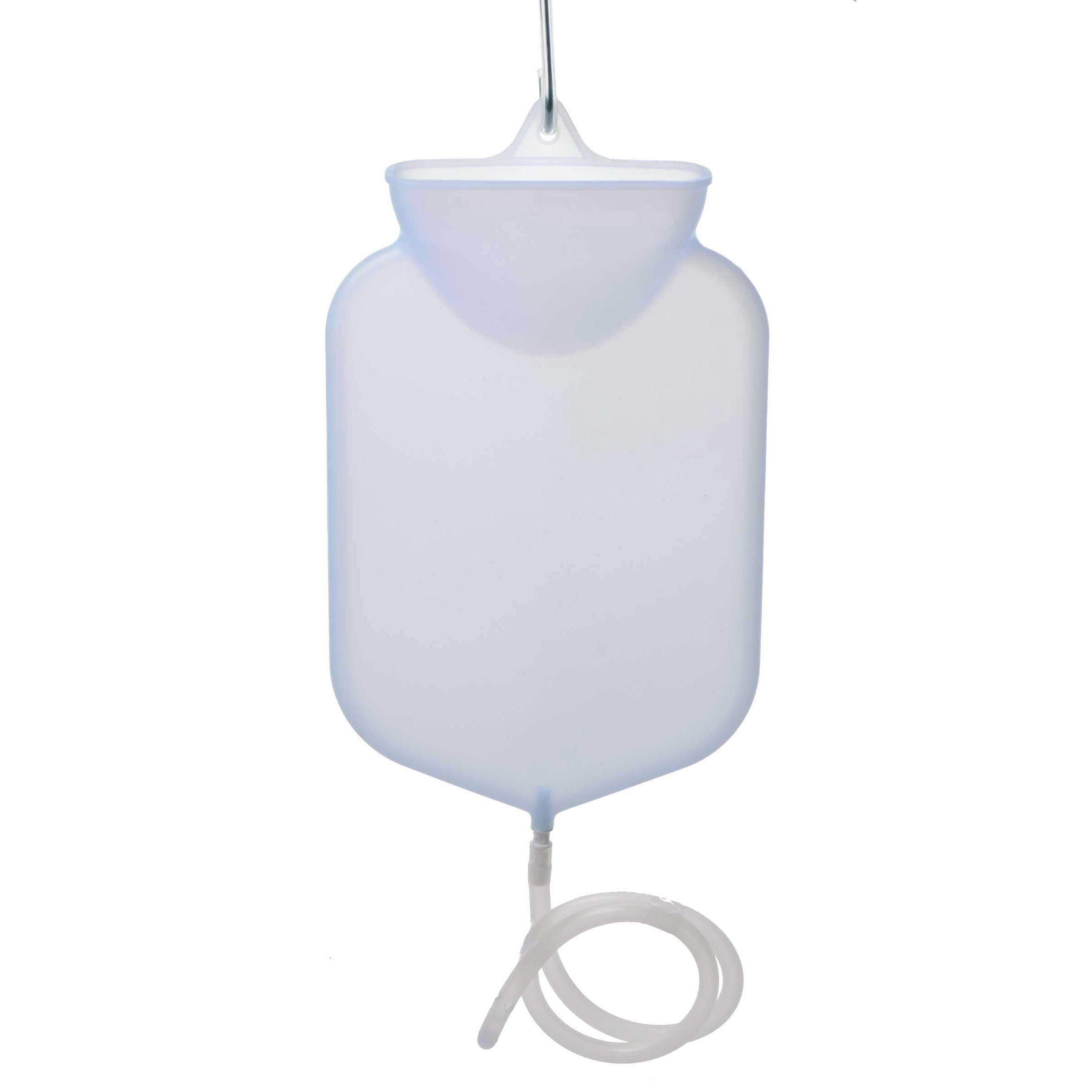 2.5 Quart Silicone Open Flow Top Douche and Enema Bag with Comfort Tip by Cleanstream