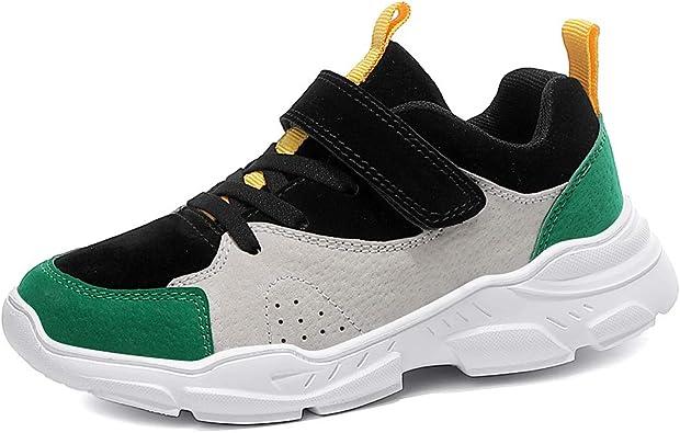 Mishansha Zapatillas de Deporte Niños Ligeras Transpirable Zapatos de Correr Casual Gimnasia Antideslizante Zapatillas Running Exterior Verde Gr.28: Amazon.es: Zapatos y complementos