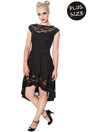 Banned Hidden Valley Alternative Gothic Plus Size Dress - Black/UK 18