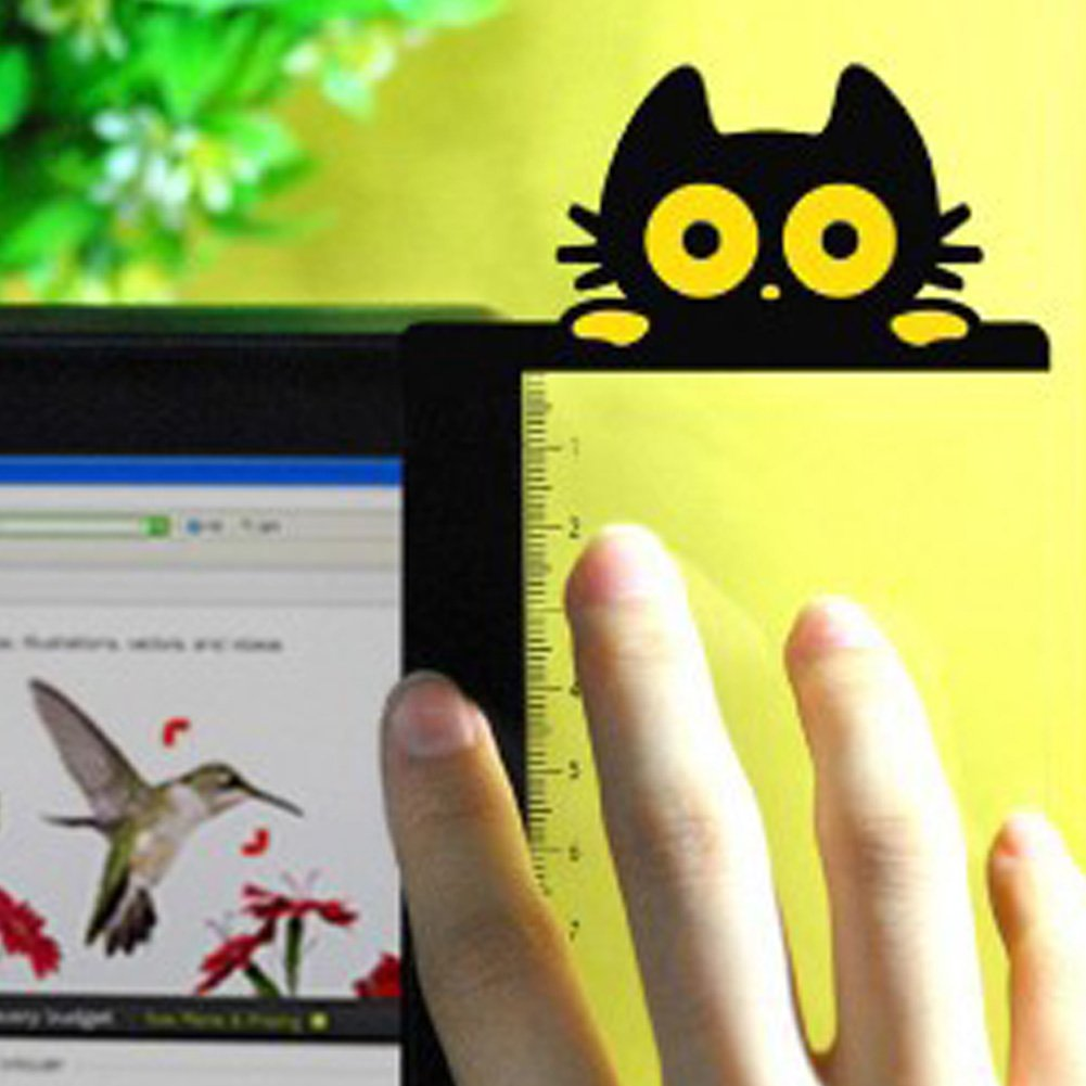 Multifunction Transparent Monitor Memo Board Cat Style1 Left Message Memo Boards Sticky Note Reminder for Computer Monitors Screen Office Home