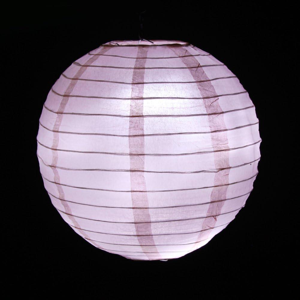 25CM F/êtes ou les Autres Occasions de C/él/ébration dans le Jardin /à la Maison Dazone 10pcs Lampion Papier Rose Lanterne en Papier Lampion Suspendue pour Decoration de No/ël Anniversaire Mariage