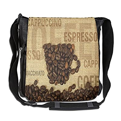 well-wreapped Lovebbag Coffee Beans Shaped Mug And Coffee Types Letterings Art Print Crossbody Messenger Bag
