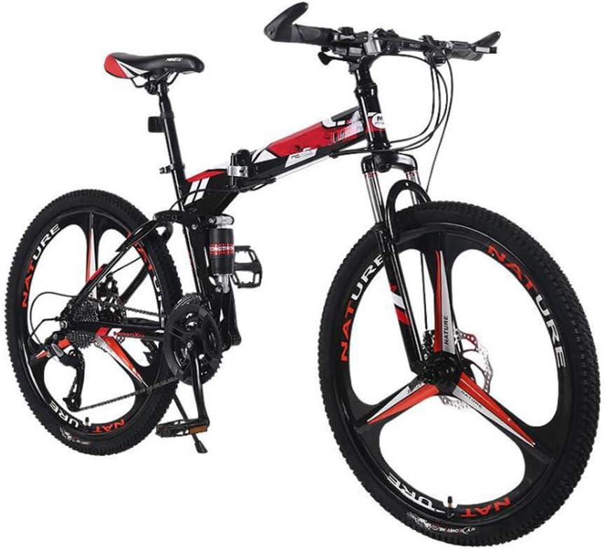 GOUTUIZI Bicicleta montaña Plegable,Bicicleta de Bicicleta de ...