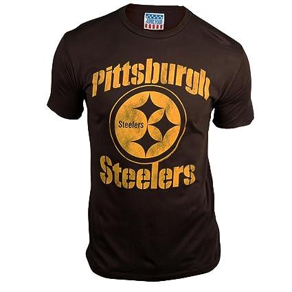 Amazon.com   Pittsburgh Steelers Men s Retro Vintage T-Shirt (Black ... ccbb6021e