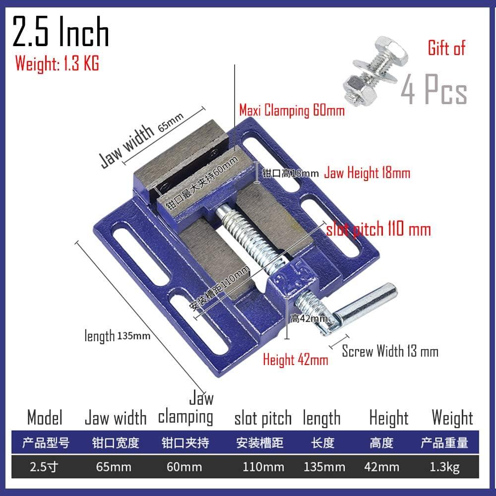 Purewords Pince plate standard am/éricaine 2,5 pouces de pr/écision banc /étau de travail du bois pince simple vice banc perceuse petit /étau