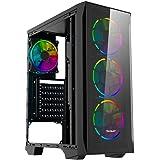 Gabinete Ocelot Gaming Entry ATX - Mini ATX - ITX - Color Negro - Panel Frontal y Lateral de Cristal Templado - Sin Fuente de