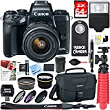 Canon EOS M5 Mirrorless Black Digital Camera w/ 15-45mm IS STM Lens + 64GB Memory Card + Camera Bag + 0.43x Wide Angle + 2.2x Telephoto Lens Converter + 49mm Filter Kit + Microfiber Cloth+Tripod+More