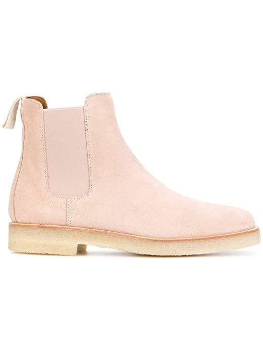 COMMON PROJECTS Women's 37782015 Pink Suede Ankle Boots