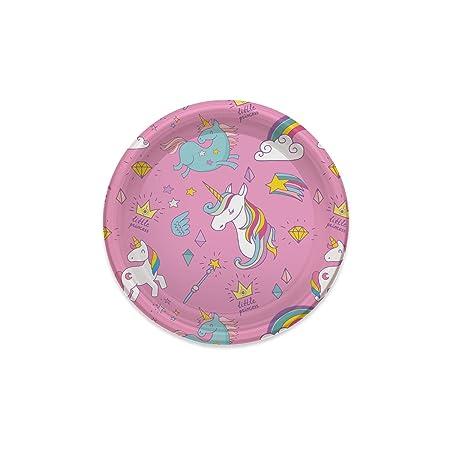 Platos de Plástico con diseño unicornio mágico ideal para ...