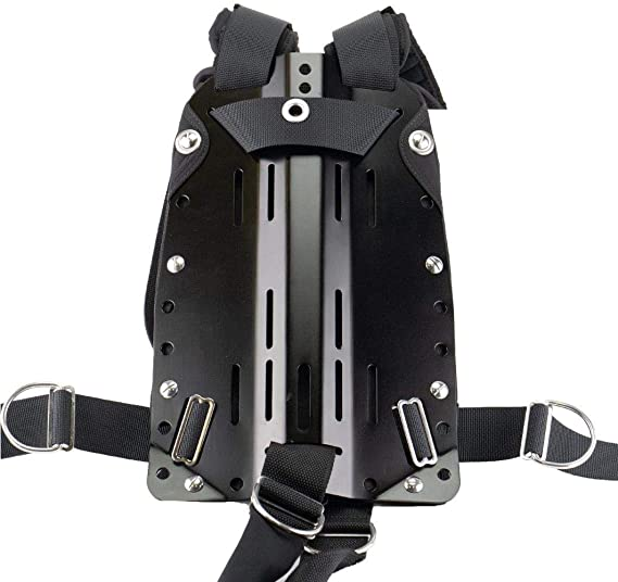 Sopras Tek Harness with Padding On Back and Shoulders Stainless Steel Back Plate Scuba Diving