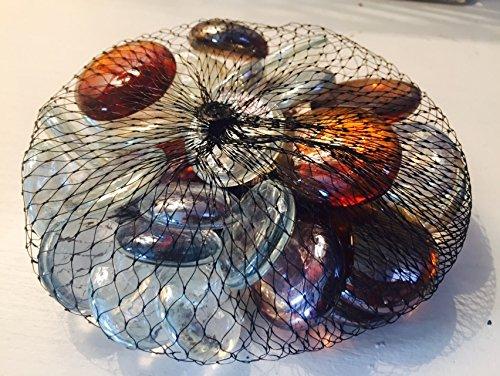 Braun & Klar Glas Deko Pebble Steine-Aquarien Floral Kerze zeigt Hochzeit Weihnachten Crafts