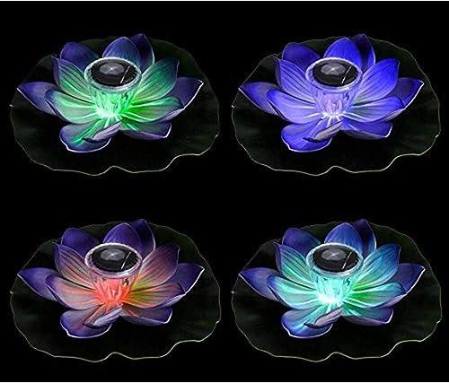 Gmasuber-Solar-Licht-schwimmende-Lotusblüte