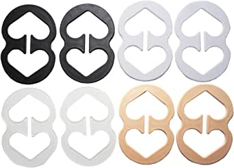8 Piece Bra Strap Clips - Conceal Straps Cleavage Control