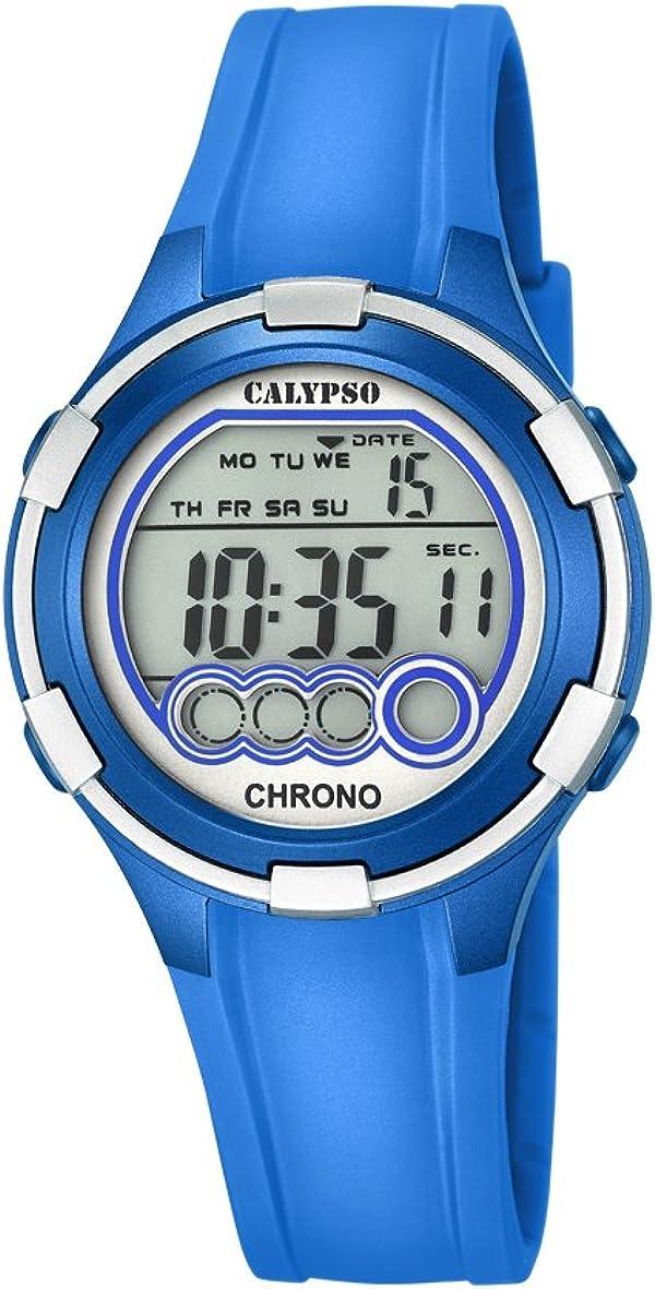 Calypso Mujer Reloj Digital con Pantalla LCD Pantalla Digital Dial Azul y Correa de plástico K5692/4