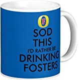 Novelty MUG ≈ SOD THIS I'D RATHER BE DRINKING FOSTERS ≈ A fun gift for any FOSTER'S Lager Beer fan. WITH A CHOICE OF TRADITIONAL CROWN, OR FOSTER'S INSPIRED LOGO AT THE TOP OF THE DESIGN ≈ A novelty keep calm and carry on style tea or coffee mug for any father, son, husband - A fun gift for Christmas or Birthday and a fine Mothers or Fathers Day present - listing category: gift gifts mug mugs cup cups (FOSTER'S INSPIRED LOGO)