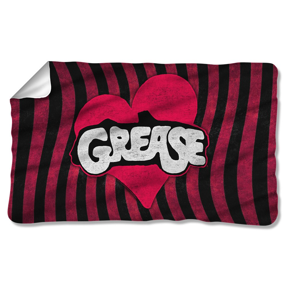 Grease 1978 Teen Romantic Comedy Musical Movie Grooving Logo Fleece Blanket