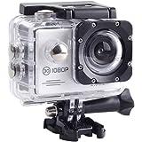 SAC フルHD 1080p 対応白色アクションカメラ 2インチ液晶 30M防水ケース付き AC200WH