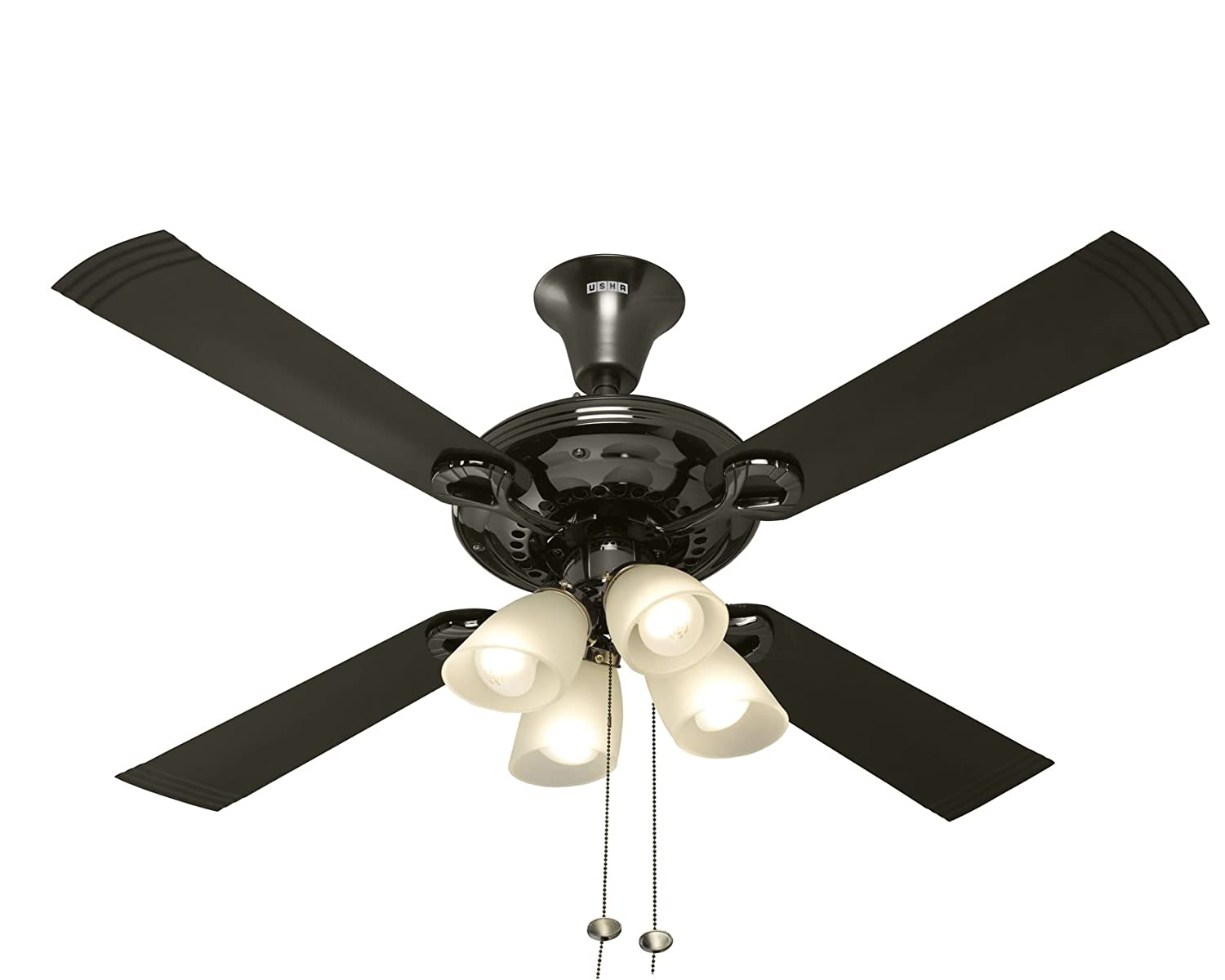Buy Usha Fontana Lotus 1230mm Ceiling Fan With Decorative Lights Light Wiring Diagram Systems Black Chrome Online At Low Prices In India