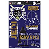 WinCraft Baltimore Ravens Official NFL 11 inch x 17 inch Star Wars Darth Vader Car Window Cling Decal by 402820
