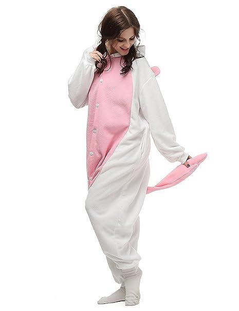 Unicornio PYJAMAS Disfraz Jumpsuit - Carnaval Cosplay Animales Dormir Traje Onesize adultos unisex Rosa L: Amazon.es: Ropa y accesorios