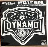 Houston Dynamo 6'' Silver Metallic Mirrored Style Vinyl Auto Decal MLS Soccer Football Club