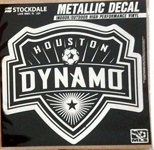 Houston Dynamo 6'' Silver Metallic Mirrored Style Vinyl Auto Decal MLS Soccer Football Club by Stockdale