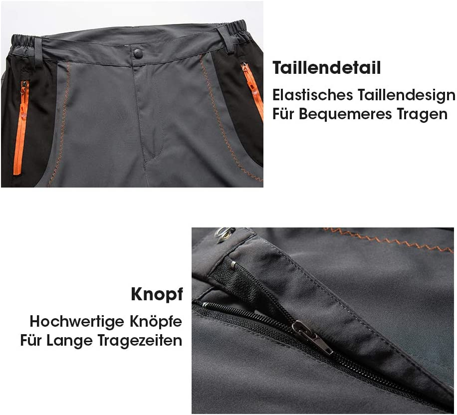 Caretoo Pantalones Trekking Hombre Pantalones De Escalada Senderismo Alpinismo Invierno Polar Forrado Aire Libre Pantalones